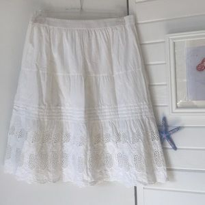 Dresses & Skirts - Studio West Apparel White Lace Tiered Skirt Large